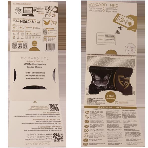 Coffre fort électronique EviCard NFC Full Packgin