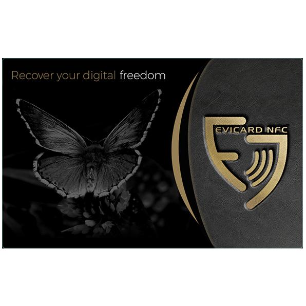 Coffre-fort électronique EviCard NFC verso