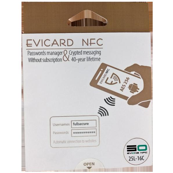 Coffre fort électronique EviOne EviCard NFC 25L-16C