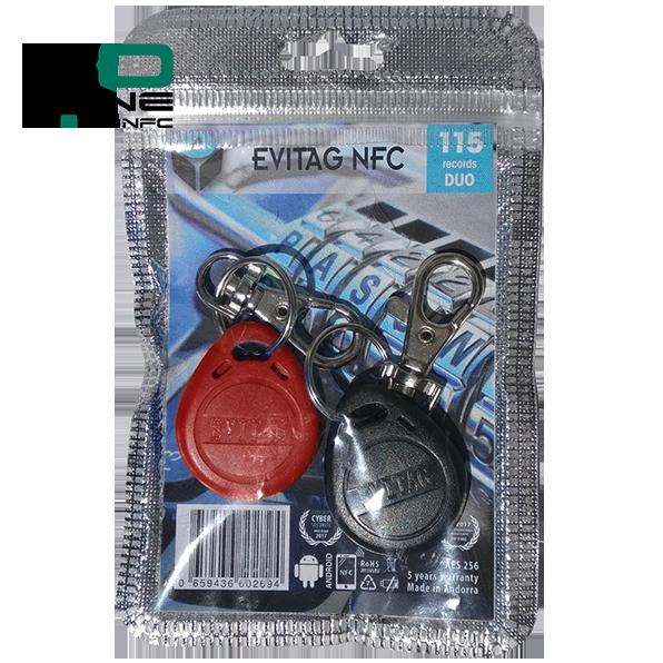 Coffre fort électronique EviOne EviTag NFC Duo Blister 115L Recto