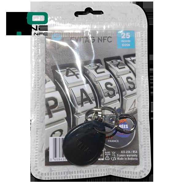 Coffre fort électronique EviOne EviTag NFC noir Blister 25L Recto