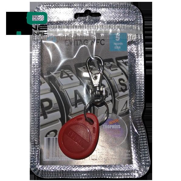 Coffre fort électronique EviOne EviTag NFC Rouge Blister 5L Recto