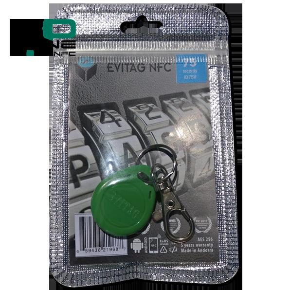 Coffre fort électronique EviOne EviTag NFC Vert Blister 75L Recto