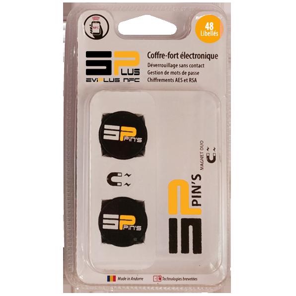 Coffre-fort électronique EviPlus Tag NFC Magnet Duo Blister 48L Recto